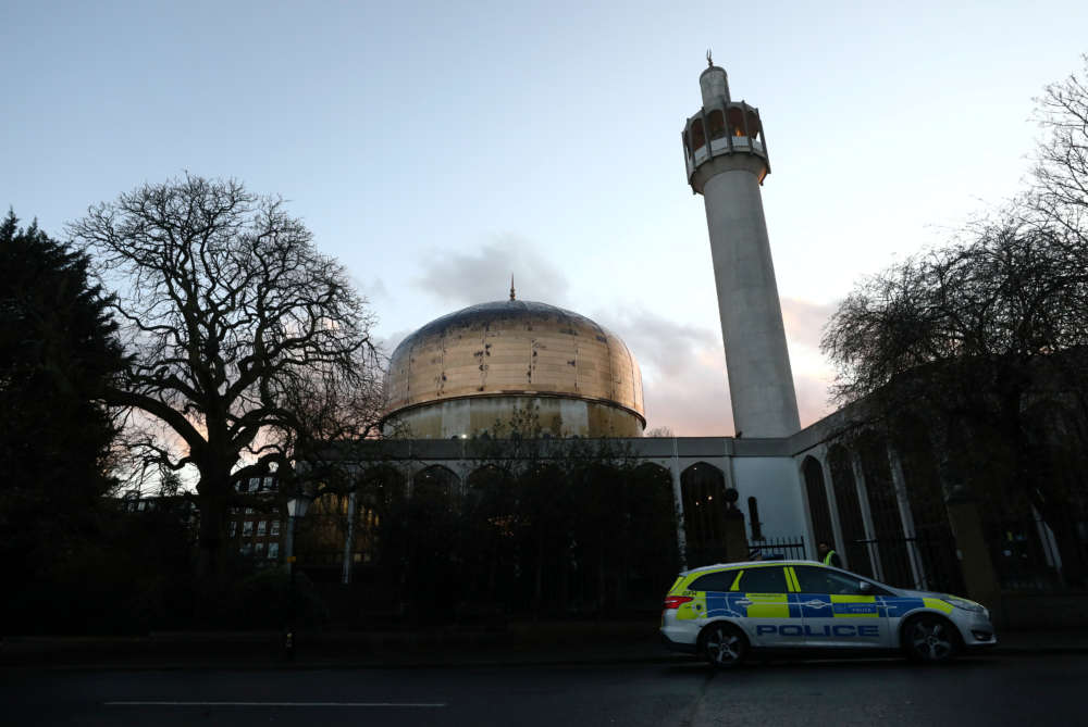 London police charges man in mosque stabbing