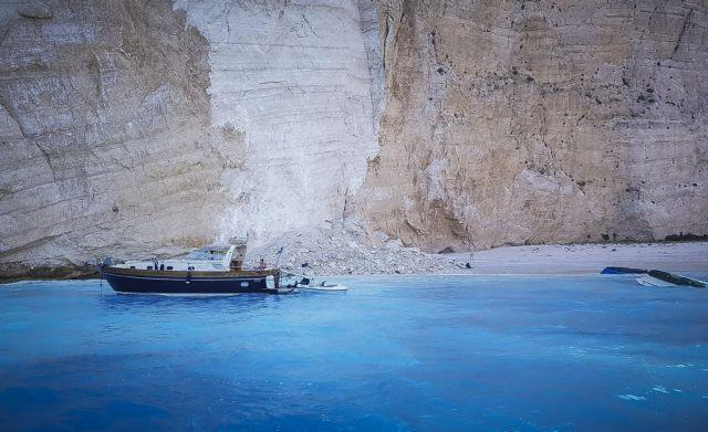 Zante beach to remain closed indefinitely after landslide
