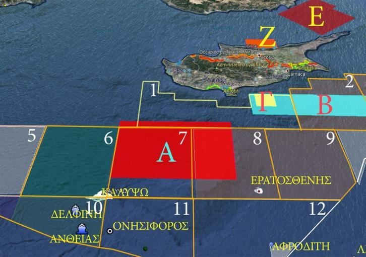 Cyprus Aeronautical Exercise in parallel with the Turkish one (map)
