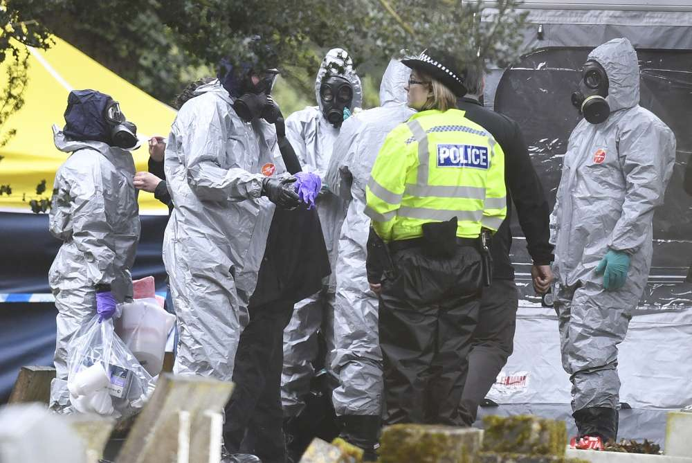 Two Britons poisoned with Novichok nerve agent