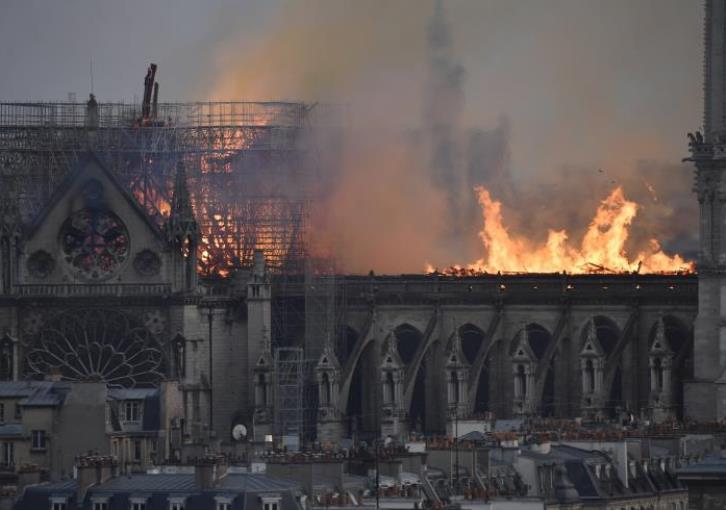 Fire devastates Notre-Dame Cathedral