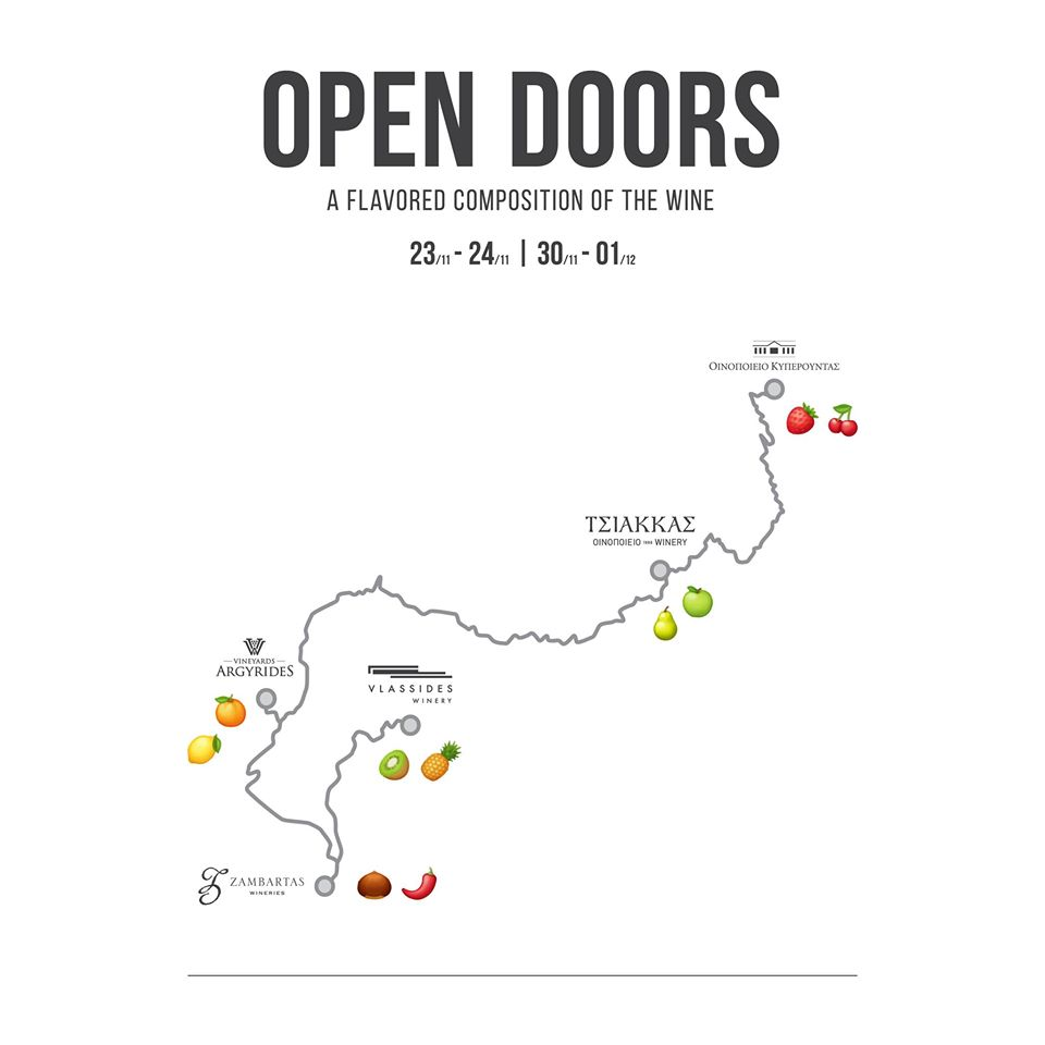 Open Doors Nov 2019 (A flavored composition of the wine)