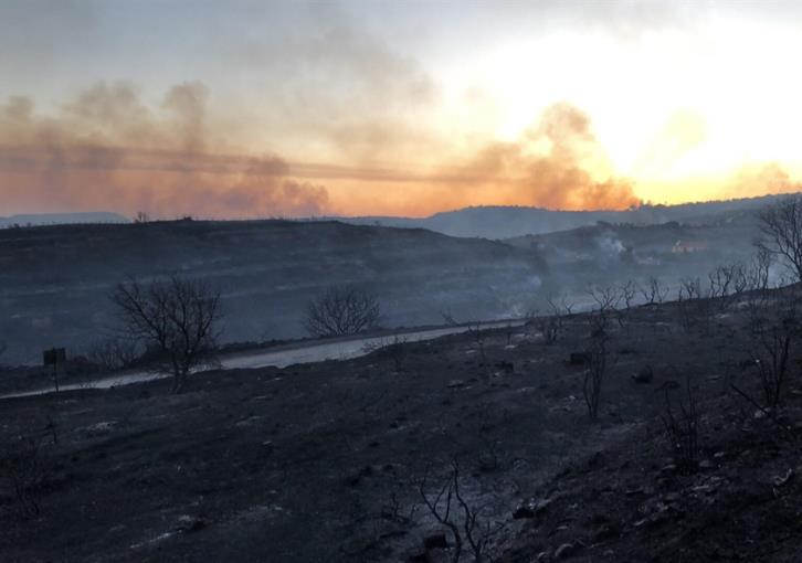 Fire between Pachna-Malia still raging out of control