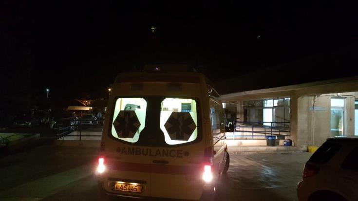 Car crashes into bank entrance in Paphos