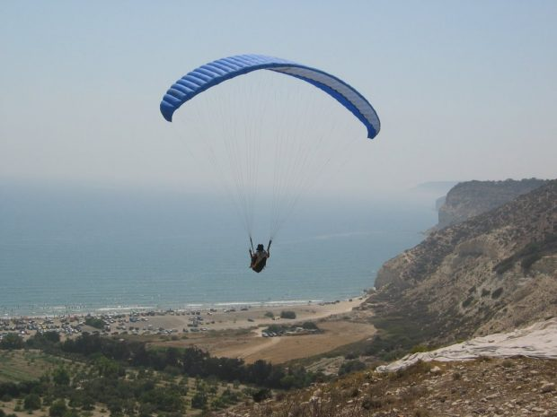 Paragliding in Kourion
