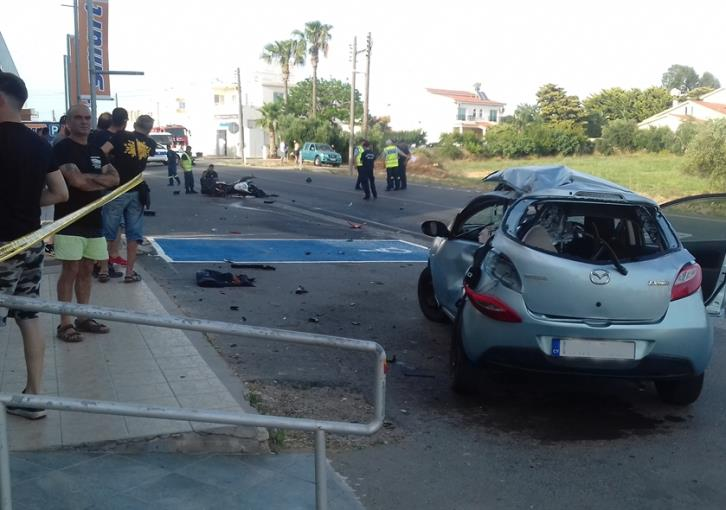 Updated: Biker killed in Paralimni