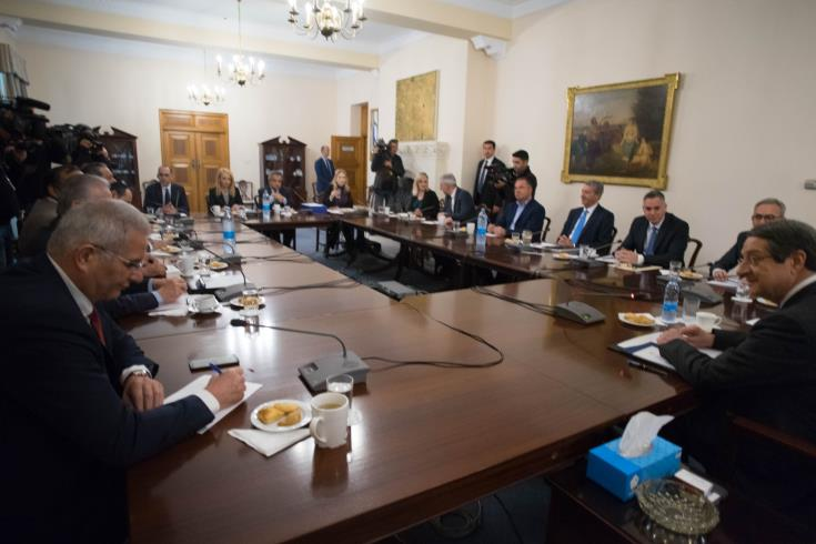 Party leaders discuss Akinci's proposal for joint natural gas management