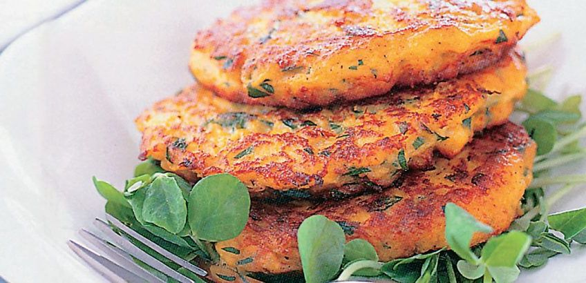 Fried sun-dried tomato patties