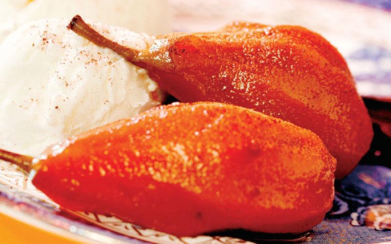 Pears with cinnamon