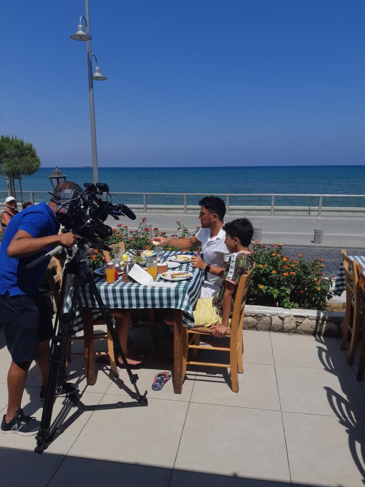 Peter Andre shines TV spotlight on Larnaca