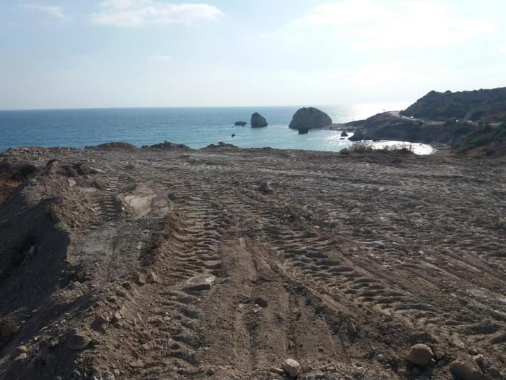 Forest area opposite Aphrodite's Rock flattened for better wedding photos