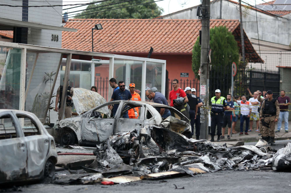 Small plane crashes in Brazilian street killing at least three