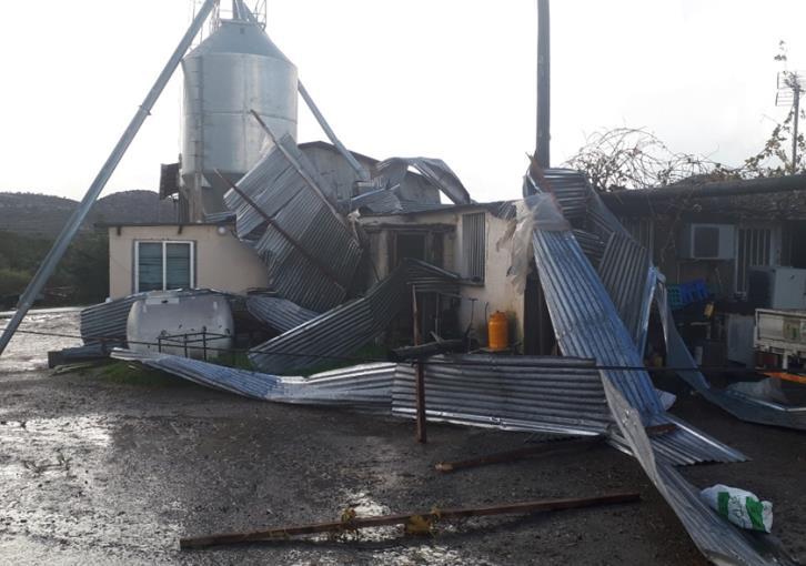 Whirlwind in Pyrga causes damage