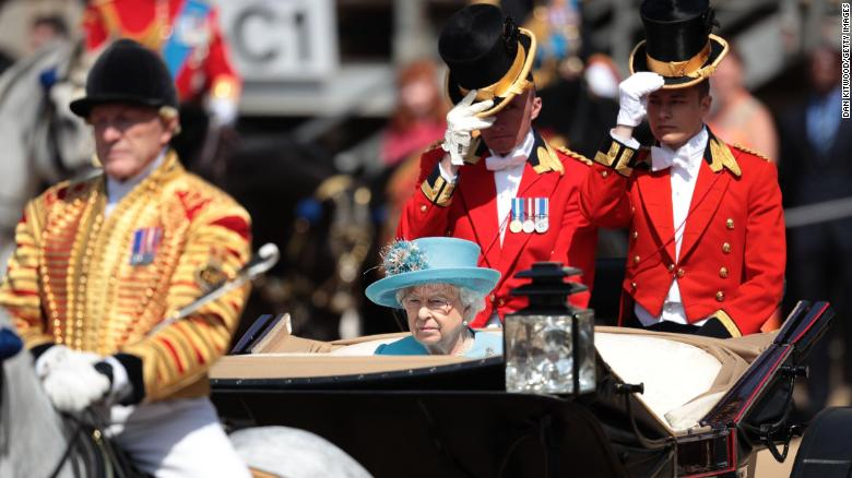 Duke and Duchess of Sussex attend Queen's birthday parade