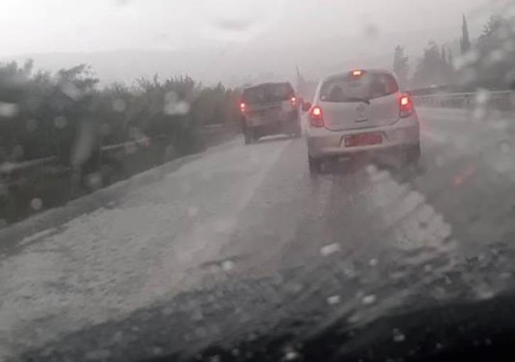 Police urge drivers to be careful because of heavy rain