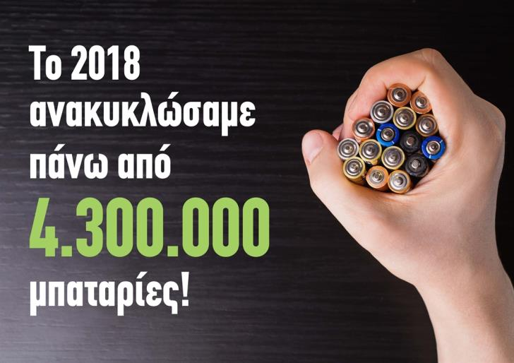 4.3 million batteries recycled in Cyprus in 2018