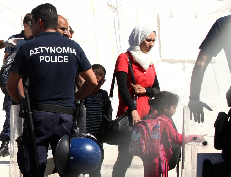Syrian political refugees taken to relatives' houses in Nicosia