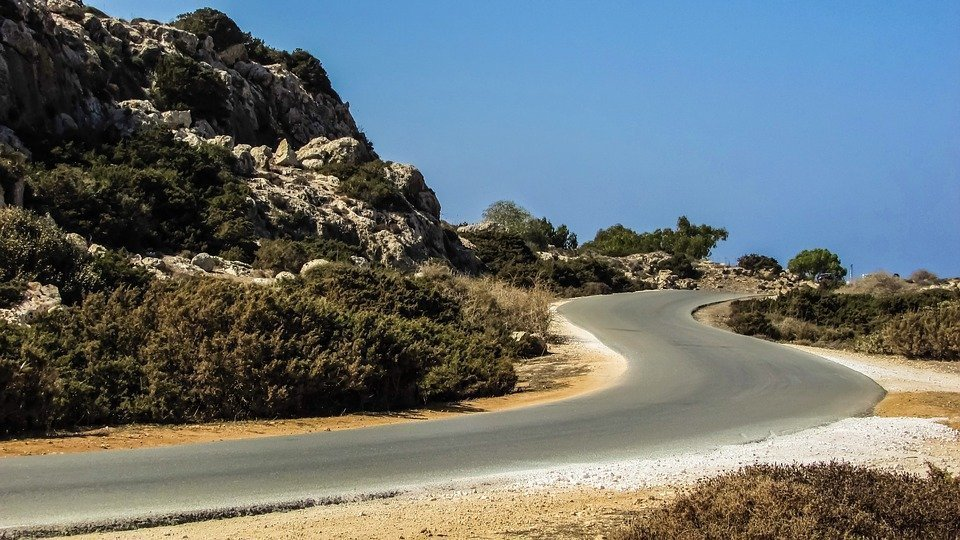 Anti-Gravity Hill near Paphos: surreal optical illusion