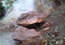 Rockfalls and slippery roads; yellow alerts of heavy rain