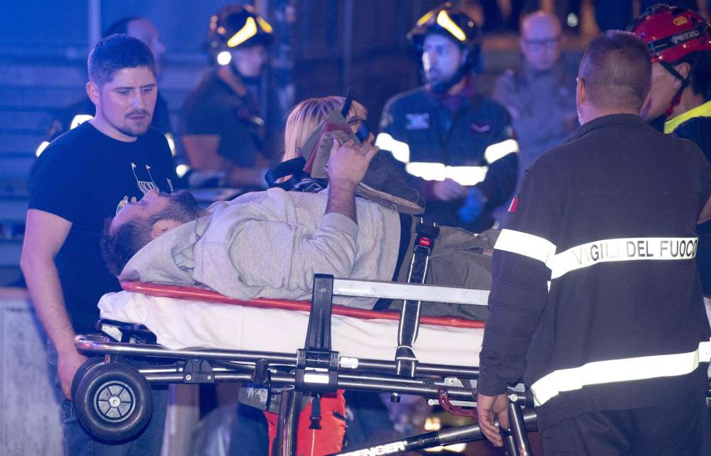 Russian soccer fans hurt in Rome metro escalator accident