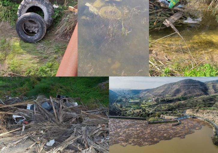 Yermasoyia and Kiti dam filled with rubbish (pictures)