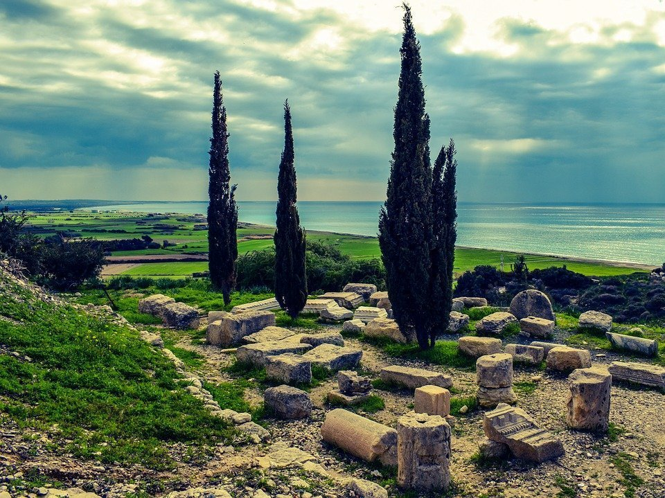 Ruins, Cyprus, Kourion, Archaeology, Archaeological