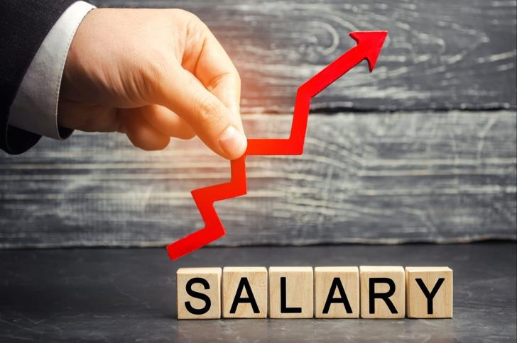 2018 average gross salaries at €1
