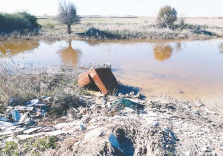 Larnaca salt lake: effluents and litter spoil the magic