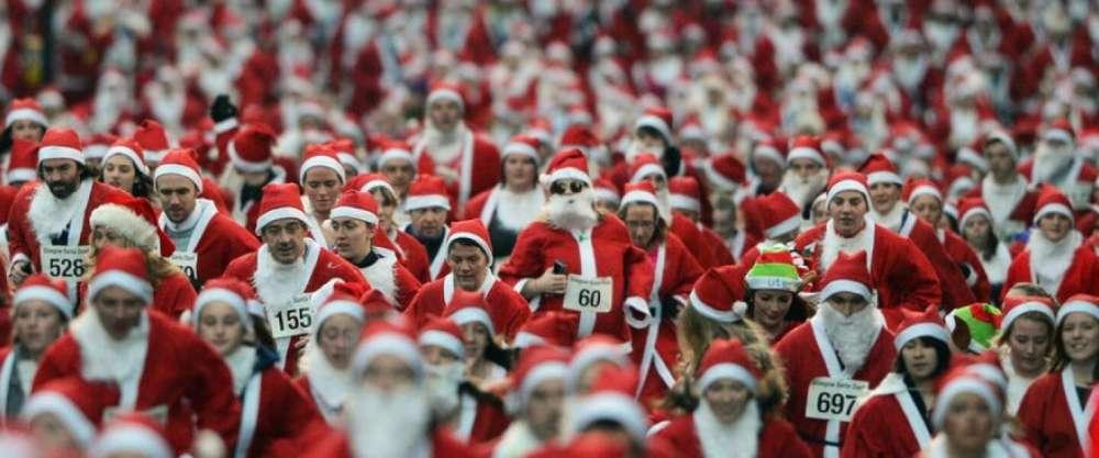 Santa Roll Run in Nicosia