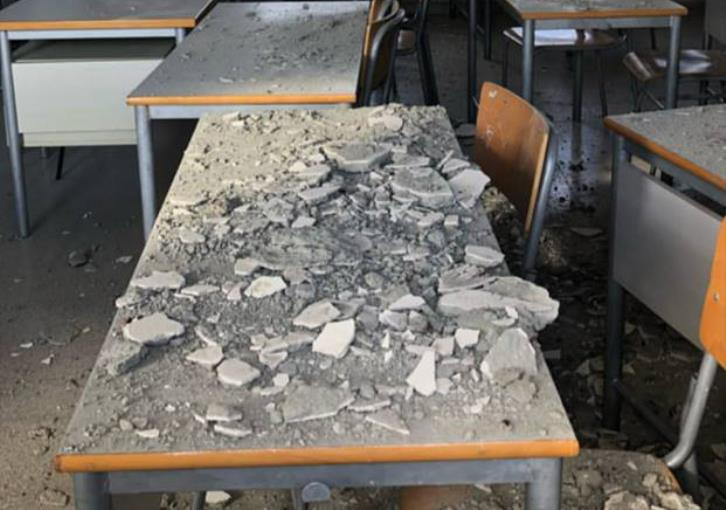 Ceiling collapses at Nicosia high school