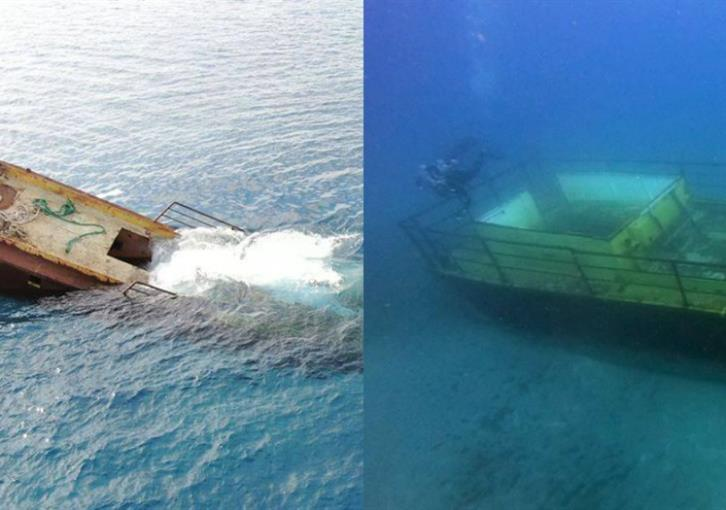 Second boat sunk off Larnaca to create artificial reef (photos)