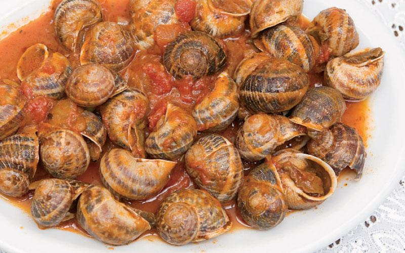 Snails with tomato sauce