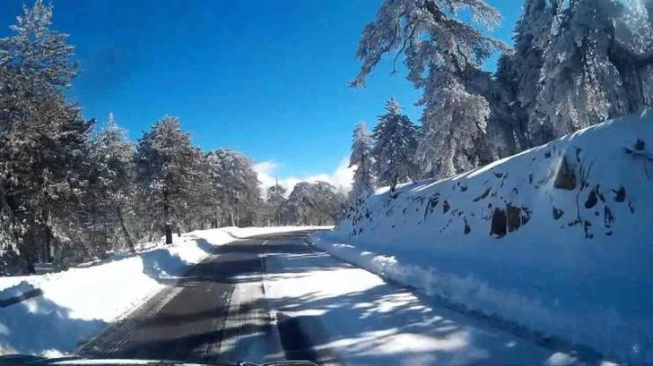 Roads to Troodos closed as cold snap continues