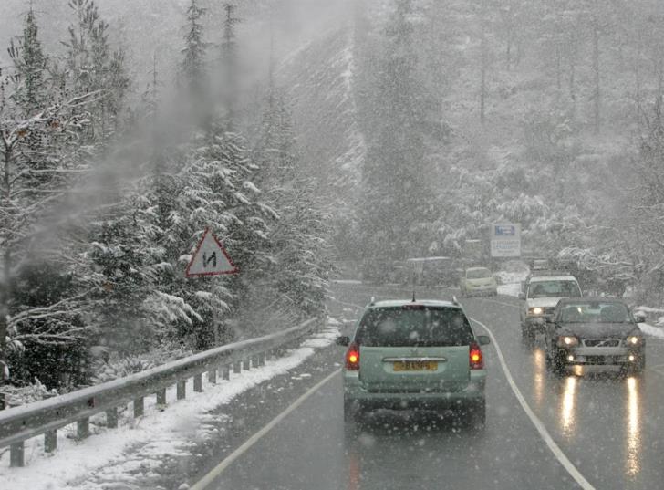 Update: Slippery roads in mountains