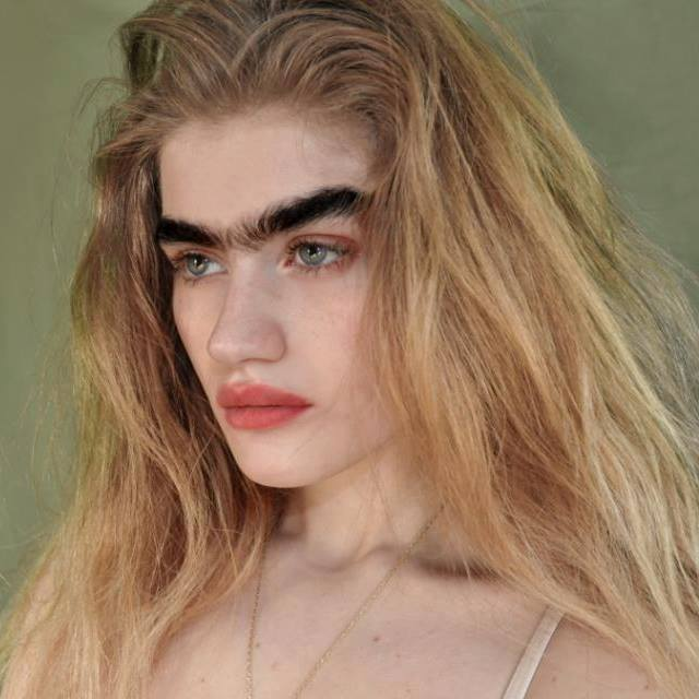 Greek Cypriot model challenges beauty stereotypes with unibrow