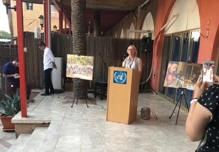 Bi-communal exchange of art works in divided Cyprus