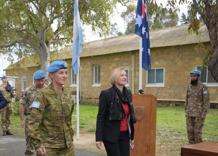 Spehar underscores goal of a united Cyprus while welcoming UNFICYP's new Force Commander