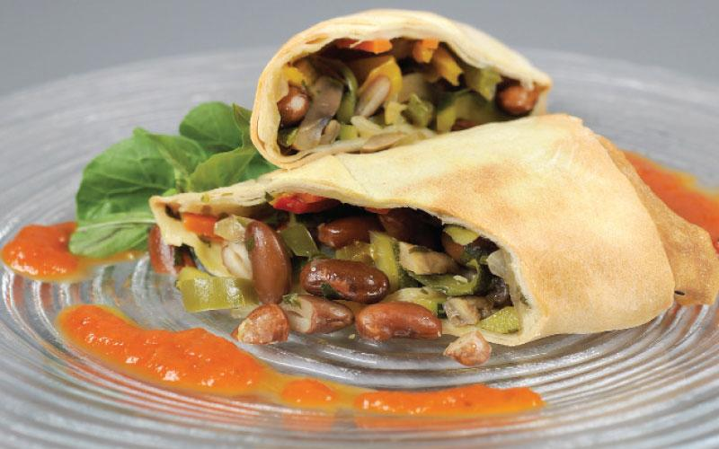 Spicy strudel with vegetables