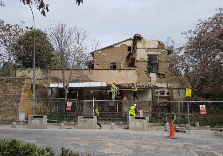 Work underway to repair Nicosia buffer zone building