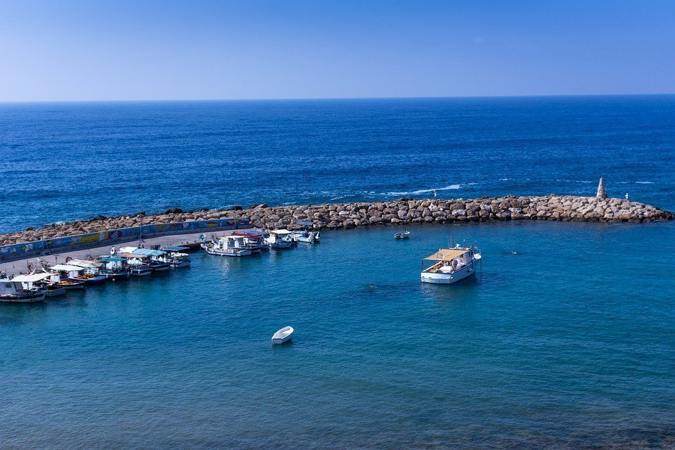 St, George, Harbor, Paphos, Cyprus, Coast, The Tropical