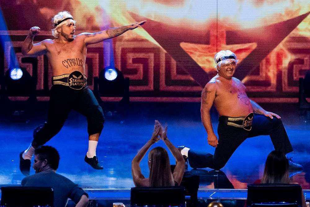 Cypriot duo Stavros Flatley reaches Britain's Got Talent Champions semi finals (video)