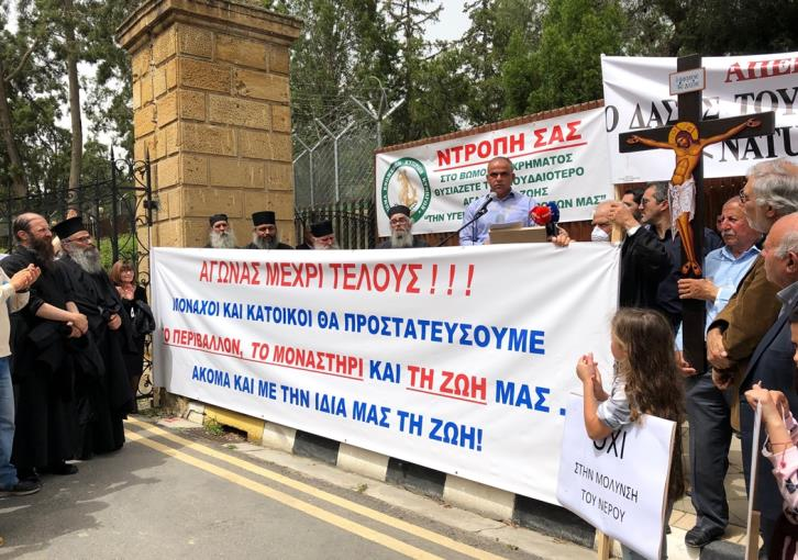 Kornos and Pyrga residents protest planned construction of recycle plant