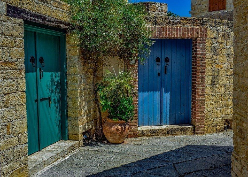 Street, Doors, Architecture, House, Old, Village