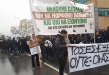 Pupils protest outside Education Ministry over winter semester exams (pictures+videos)