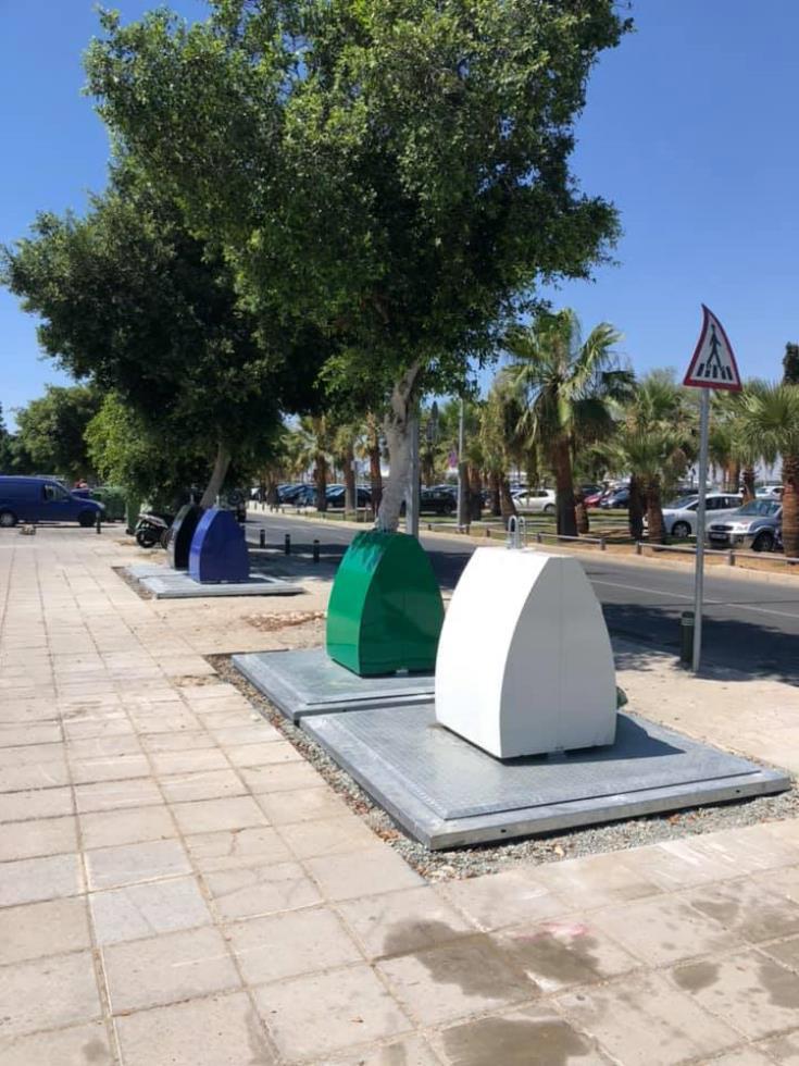 Installation of submerged bins begins along Mackenzie in Larnaca