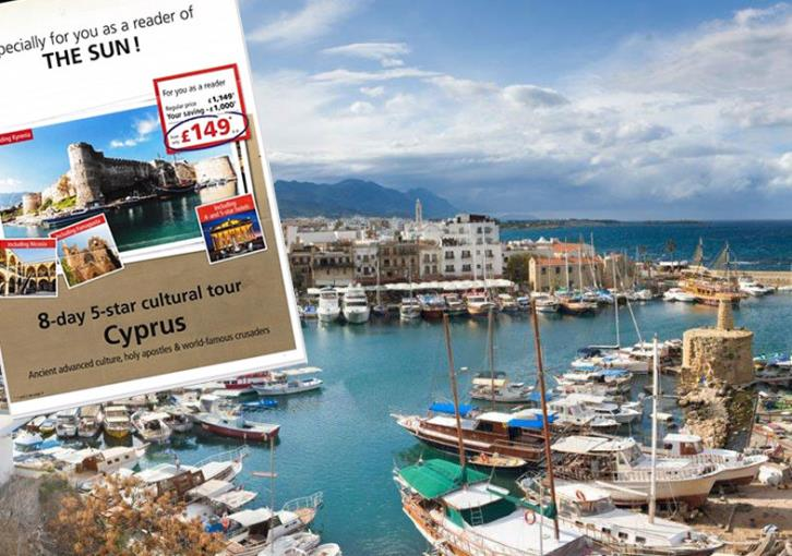 UK Cypriots association protests Sun promotion of holidays in occupied north