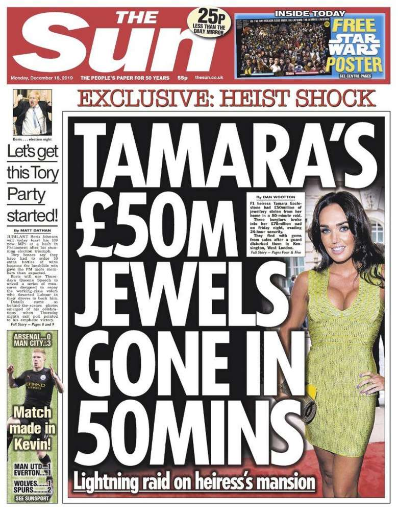 Jewellery worth £50 m stolen from UK's Tamara Ecclestone-Sun