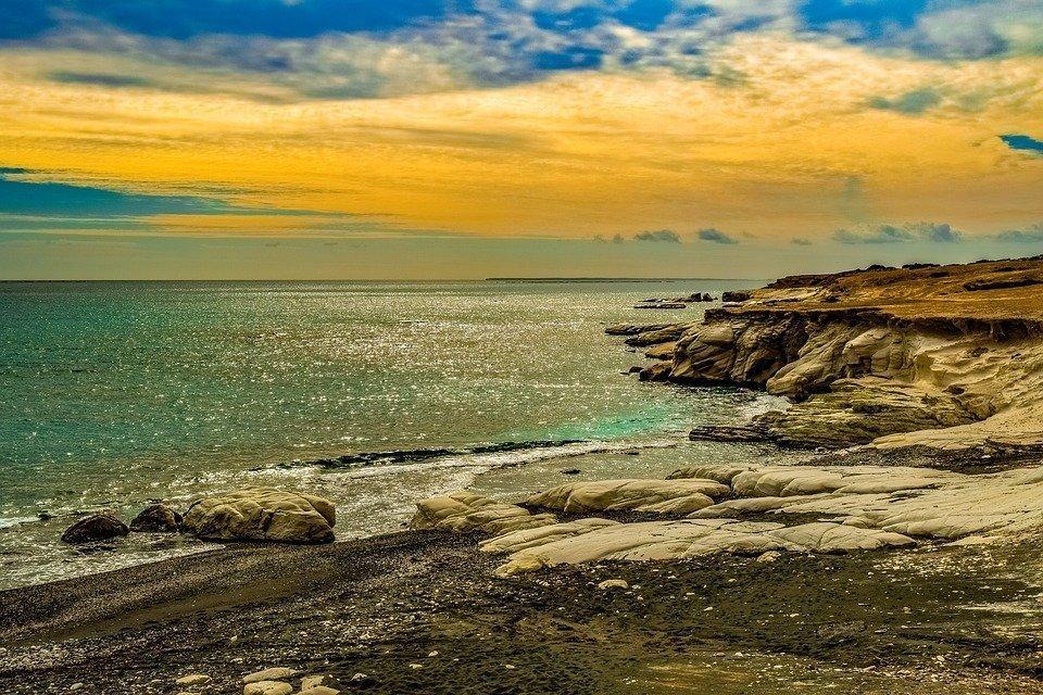 Sunset, Sea, Seashore, Nature, Landscape, Rocky Coast