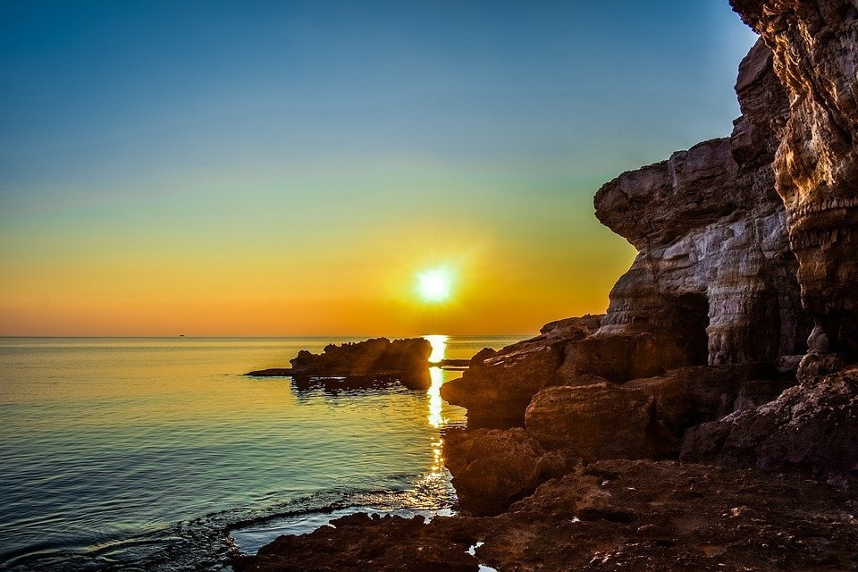 Sunset, Rock, Formation, Cliff, Sea, Travel, Nature