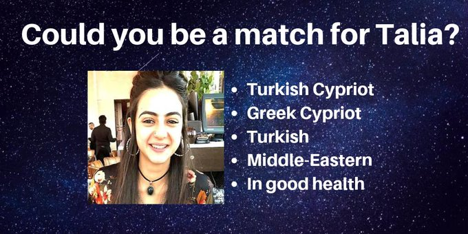 Appeal for donor match for UK Cypriot Talia Tosun